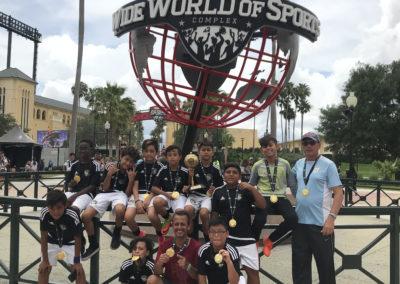 U12 Disney Memorial Day Soccer Tournament Champs 2018